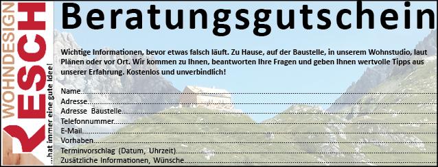 Beratungsgutschein © Resch WohnDesign