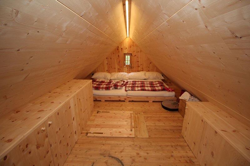 Schlafzimmer Almhütte © Resch WohnDesign