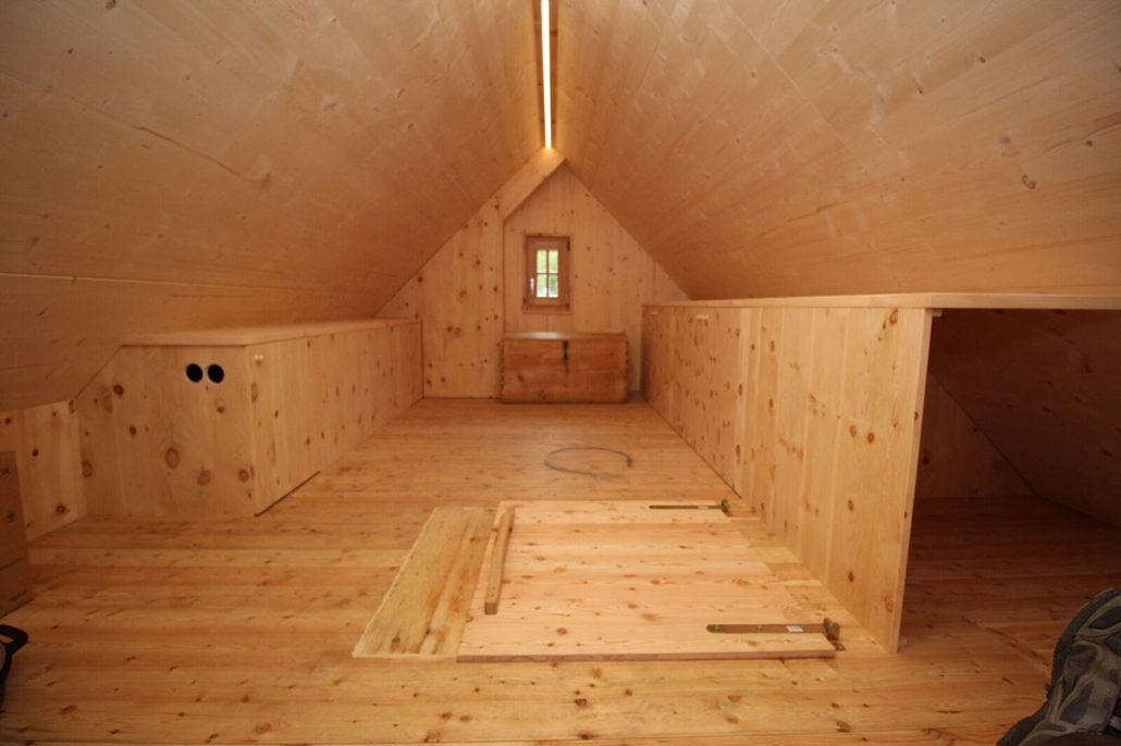 Dachboden Almhütte © Resch WohnDesign
